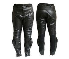 Pantalone MOTO  PELLE NERO-9200 PROTEZIONI-CE