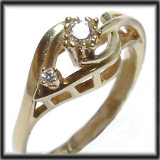 18ct Gold Solitaire Ring REAL DIAMONDS  size P jewellery company