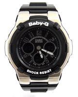 CASIO BABY-G BGA110-1B2 Analog Digital Black Chronograph Glossy Black Resin
