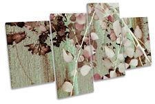 Hojas de Árbol Floral Rosado LONA pared arte obras de arte impresión de múltiples