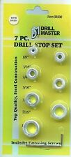 "DRILL MASTER 38336 - 7 Pc Drill stop collar Set 1/8,3/16,1/4,5/16,3/8,7/16,1/2""_"