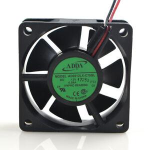 ADDA AD0612LX-C70GL 12V 0.08A 60*60*20mm 2-pin chassis CPU cooling fan