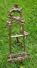 """Brass Easel 9"""" Picture / Photo Stand Holder, Plate Stand"""