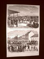 Guerra Russia vs Turchia nel 1877 Ferrovia Bucarest - Galatz Granduca Nicola
