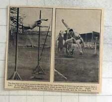 1925 Oxford salto con pértiga, D Sumner, AE Porritt Gemelos Salto largo