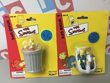 Playmates Basic Fun The Simpsons Springfield Wind Up Figures Lot  Bart Burns