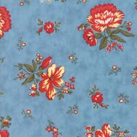 Per 1//4 Metre Moda Fabric Anns Arbor Garden Trellis Blue