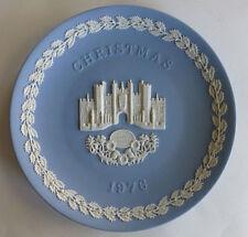 "Vintage Wedgwood Pale Blue Jasper 8"" Plate Christmas 1976 Hampton Court"