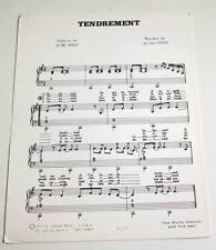 Partition sheet music NATHALIE LHERMITTE / HERBERT LEONARD : Tendrement * 80's