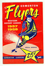 HTF 1957-58 Edmonton Flyers WHL Hockey Program vs. Calgary Stampeders #4