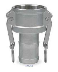 "2"" Type C Camlock Female Coupler x Hose Barb Aluminum Hose Fitting <C200IAL"