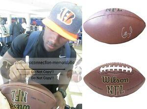 Giovani Bernard Buccaneers Signed NFL Football Bengals UNC Proof Autograph COA