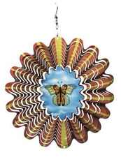 """10 """" Wind Spinner 3D Butterfly, Garden, House,  Powder Coated Steel, MADE IN USA"""