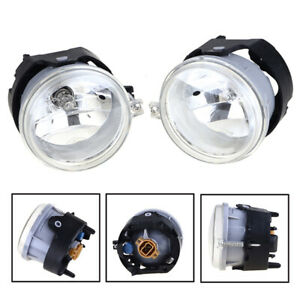 Pair White Bumper Driving Fog Lamps + Bulbs For 10-12 Dodge Challenger Charger