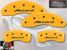 "2013-2017 Honda ""Accord"" Front + Rear Yellow MGP Brake Disc Caliper Covers 4pc"