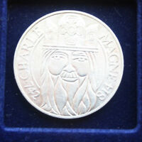"Frankreich 100 Francs 1990 Silber KM# 982 #F 2612 ""Karl der Grosse"" St-BU"