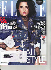 ELLE CANADIAN MAGAZINE SEPT 2016 DEMI LOVATO SITU FALL STYLE FAST TRACK BEAUTY
