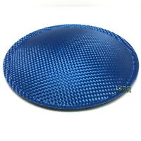 "5.9"" (150mm) Blue Carbon Fiber Speaker Subwoofer Dust Cap"