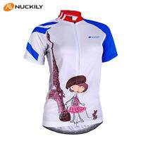 Women's Team Cycling Clothing Bike Bicycle short sleeve cycling jersey Top S-XL