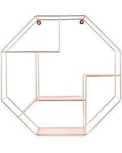 NEW & BOXED Kirkton House Copper Octagonal Wire Shelf (Diameter 53cm)