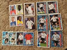 MERLIN TOPPS ENGLAND x 14 DIFF STICKERS 2002 2012 2014