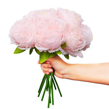 2 Pack Artificial Peony Flowers Silk Flowers Bouquet 10 Heads Wedding Home Decor