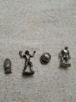 Monopoly Replacement Pieces Pewter Tokens Movers Set of 4 Pieces Free Shipping