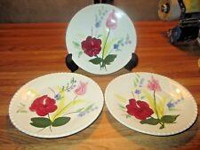 Blue Ridge Blue Bell Bouquet saucers 3 available mid century dinnerware