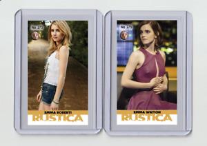 Emma Watson rare MH Rustica #'d 3/3 Tobacco card no. 275