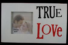 CORNICE Foto Immagine Vero Amore in legno bianco verniciato il lato positivo NUOVO