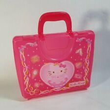 Clear Pink Plastic Princess Hello Kitty Multi Purpose Carry Case *Sanrio 2008*