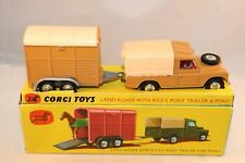 """Corgi Toys Gift set 2 Land-Rover with """"Rices"""" Pony trailer and Pony in box"""