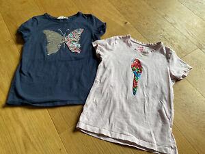 2 Hübsche Shirts - Wende Pailletten - Gr 128/134
