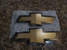 Chevy Colorado Front/Rear Emblems 2015 Silver/Gold - Almost New 22900420 GM31XX