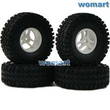 4pcs RC 1/10 115mm 1.9 Tires w/ Hex 12mm Wheels For Rock Crawler Truck Upgrade