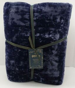 Pottery Barn Harry Potter Magical Velvet Quilt Twin Twin XL Midnight Blue #321N