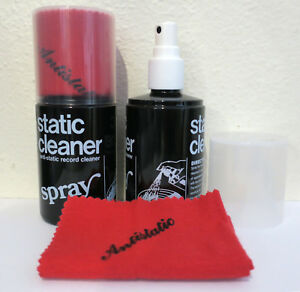 200ml Anti-Static Record Cleaning Spray and Cloth (Vinyl Cleaner) NEW