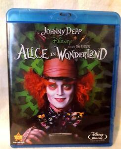 Alice in Wonderland (Blu-ray Disc, 2010) JOHNNY DEPP DISNEY MOVIE TIM BURTON