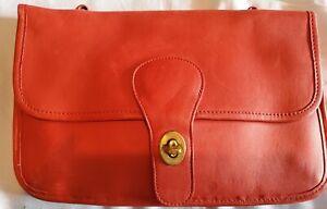 Vintage Coach Bonnie Cashin Twin Double Sided Red Leather Clutch Crossbody Bag
