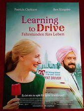 Learning to Drive Fahrstunden fürs Leben Kinoplakat A1 Ben Kingsley, P. Clarkson