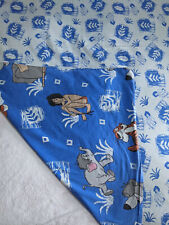 VTG 90s Disney Jungle Book Mowgli Duvet Cover Fabric Blue Bedding Cotton