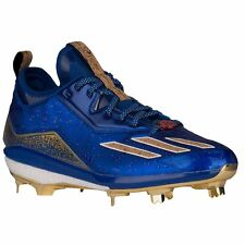 Adidas Energy Boost Icon 2 Celebration Metal Baseball Cleats Blue Gold Size 13