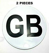 GB Britain Magnetic Sign Euro White Background Badge Travel Car Plate Vinyl UK