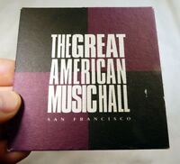 American Music Hall San Francisco Bar Coaster Beer lot  3 Free Shipping USA