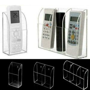 TV Remote Control Holder Wall Mount Acrylic Organiser 3 Size M2X2 T5C2 G9W0