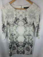 Decjuba Tunic Print Long Sleeve  Dress Womans Size 8
