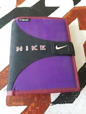 Vintage Nike Mead Student Day Planner Folder 1995 Velcro Embroidered UnusedClean