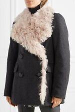ISABEL MARANT: BRAND NEW shearling/anthraciet wollen BERIT winterjas, EU38 SALE