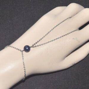 ZéeO Bijoux Bracelet bague original acier inoxydable argenté pierre Lapis Lazuli