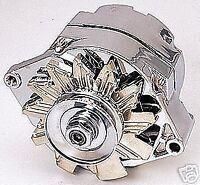 100 120 amp 283 307 327 350 Chev V8 Chrome plated Alternator Internal reg